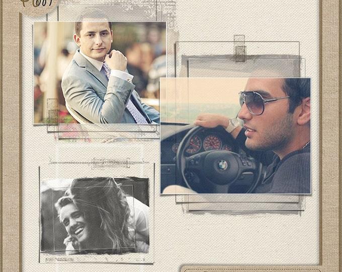 Frames - Digital scrapbook frames. Photo Book. Photo album. Frame Vol.46