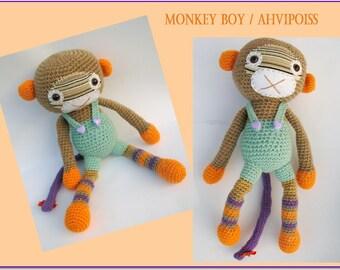 Amigurumi monkey-Monkey boy-Crochet stuffed animal