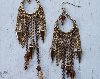 Chain & Crystal Earrings