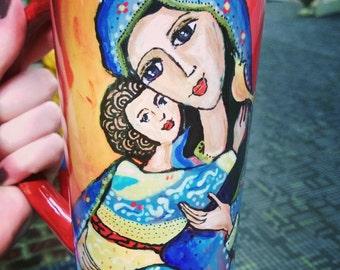 Folkart Madonna and Child