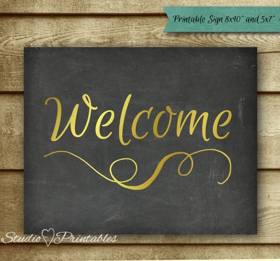 Printable Welcome Home Sign: Items Similar To Printable Chalkboard Welcome Sign