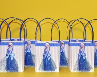 Frozen Elsa Inspired Party Favors Goodie Baskets (Set Of 12)