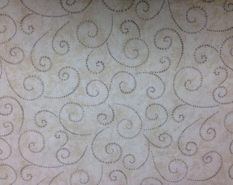 New Timeless Treasures Chantilly Swirl Neutral 100% Cotton Fabric for Quilting - sold by 1/2 yard