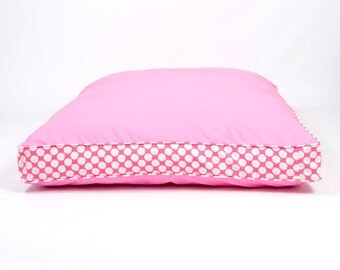 Two-Tone Refreshers Dog Bed - Pink and Daisy