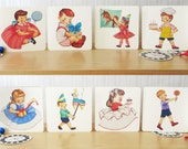 8 Vintage Style Greeting Cards (free shipping)