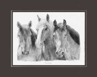 """The Girls - Matted Print - 11"""" x 14""""  Ready to frame."""