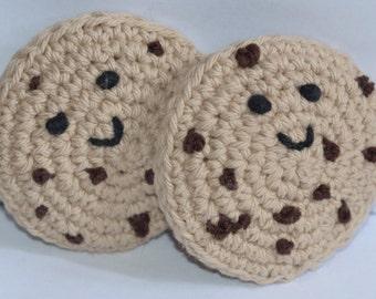 Crochet Amigurumi Chocolate Chip Cookie