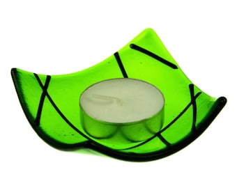 Linea fused glass candle holder