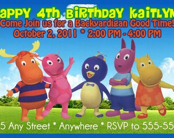 Backyardigans Photo Birthday Invitation