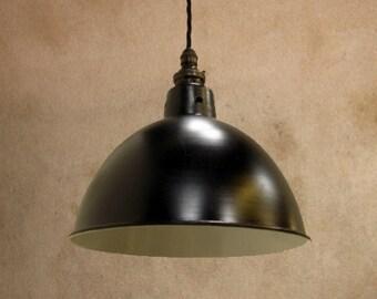 Black Industrial Enamel Factory Lamp Shade - Industrial Enamel Lampshade - Various Colours