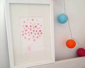 Piglet and Lollypops Nursery Decoration, Wall Art, Watercolour Print