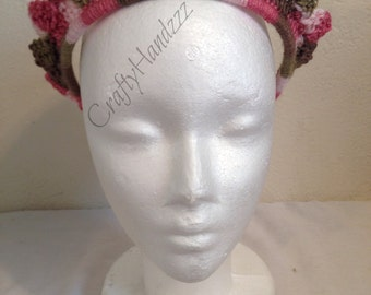 Crochet Princess Tiara Crown Head Band