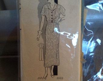 Anne Adams Pattern, 1930s, Unprinted Pattern, Size 42, Bust 42
