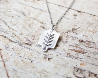 growth necklace - india inspired necklace silver leaf necklace tree necklace silver leaves necklace