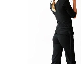DRAWSTRING PANTS  cropped  best selling pants  womens  yoga pants  bottoms  cropped black pants  clothing  handmade  treehouse28