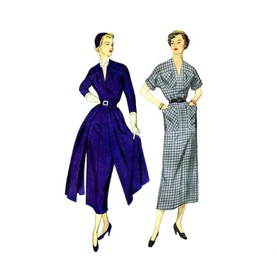 1940s womens sheath dress simplicity 2992 vintage sewing pattern dress