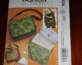 McCalls 5824 Fashion Accessories Laptop Bag Tote Carrier Jennifer Lokey UNCUT