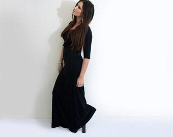 Dress • Maxi Length • Quarter Elbow Sleeve • Tall & Petites • Relaxed Fit Lightweight Dress • Long Dress • Women's Clothing (No. 949)