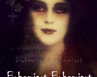 Terrible Love vampire gothic print