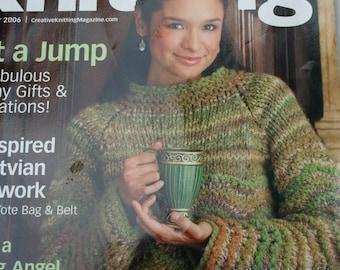 Sweater Knitting Patterns Creative Knitting Magazine November 2006 Christmas Stocking Men Women Children Bag Belt Shrug Original NOT a PDF