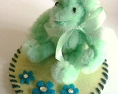 Tiny Teddy Bear Mint Green Pipe Cleaner Bear