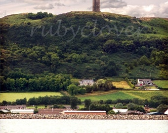 Scrabo Tower, Newtownards CO. DOWN, Fairytale Decor, Medieval Pointy Castle, Ards Peninsula, Northern Ireland,Hilltop with Dramatic Skies