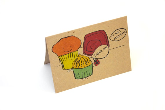 Thank You For Baking: Thank You Muffin Baked Goods Greeting Card By DesireeB On Etsy