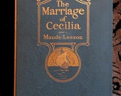 Handbound Artist's Journal Made From Vintage MARRIAGE OF CECILIA