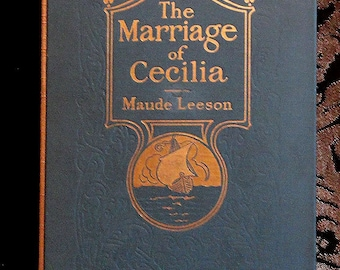 Handbound Artist's Journal or Wedding Guest Book Made From Vintage MARRIAGE OF CECILIA