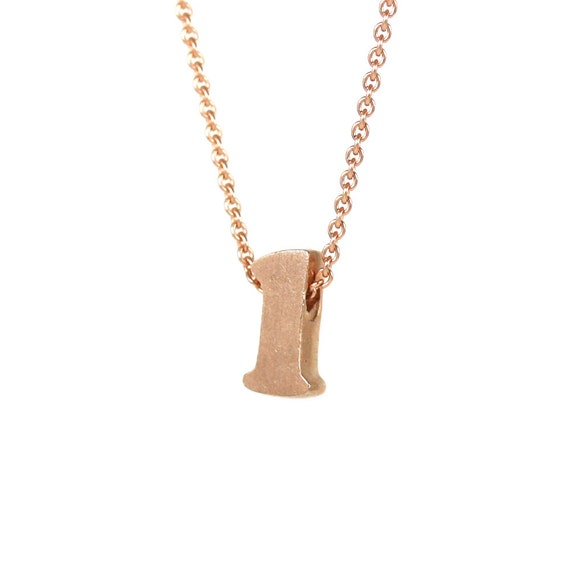 l - block letter initial necklace