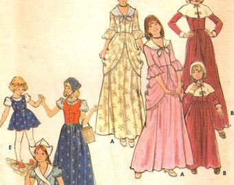 Butterick 4206 PILGRIM, DUTCH, COLONIAL Costumes 1970s