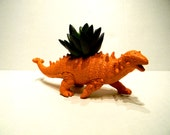 Dinosaur Planter Orange for Succulent Plants for Small Cacti