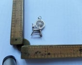 Spinning Wheel European Made Silver Charm / Pendant