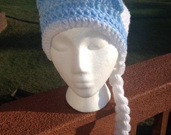 Elsa from Frozen Beanie Skullcap Hat with braids-all sizes newborn through adult