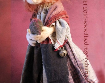 Sybil, A Faerie Mother and her child, PDF Template Sewing Pattern