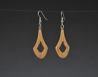 Wooden Chevron Earrings Upcycled earrings Recycled earrings Pallet Wood earrings Dangle earrings Upcycled jewelry Recycled jewelry Mark Noll