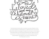 LIFE PARTNERS - I Am My Beloved's Ketubah Marriage Certificate