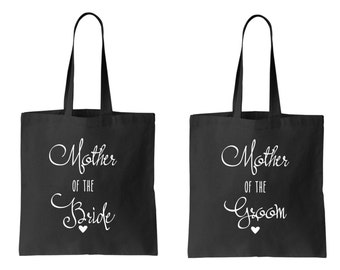 SET mother of the bride and mother of the groom bag set totes Wedding bags Favor bags
