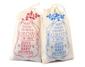 Baby Shower Personalized Seed Bomb Favors - Eco Friendly Rustic Garden Wildflowers for Country Reception