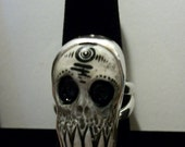 Rustic Voodoo Skull ZombieHead Ring