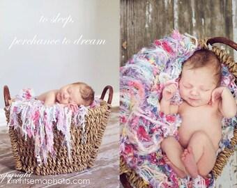 Baby Girl Newborn Photo Prop Fringie Baby Blanket
