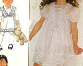 Girls GunneSax dress Sewing pattern 80s designer flowergirl dress sewing pattern Simplicity 8713 Sz 3 Uncut