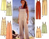 Womens overalls pattern casual jumper or overalls for gardening or causal wear sewing Simplicity 7969 Sz 16 to 20 UNCUT 90s pattern