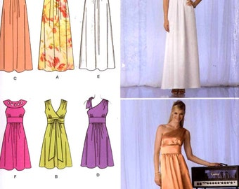Grecian goddess dress Brides gown sewing pattern Chic Helen of Troy style dress sewing pattern Simplicity 2692 Size  12