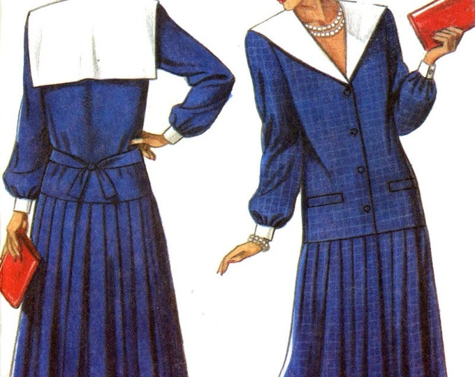 Dropped waist dress Mother of the Bride dress 20s style sewing pattern New Look 6372 Sz 8 to 18 Uncut