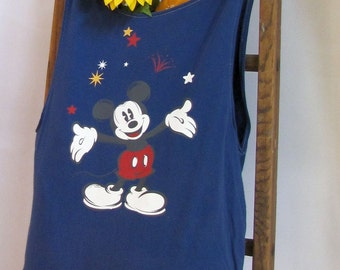 Mickey Mouse Reusable Upcycled Tote by Fashion Green T Bags