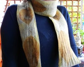 RESERVED FOR J -- Naturally Dyed Wool Eco Print Scarf