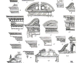 Architectural Details - French Interiors Louis XIII Details - 1965 Vintage Book Page