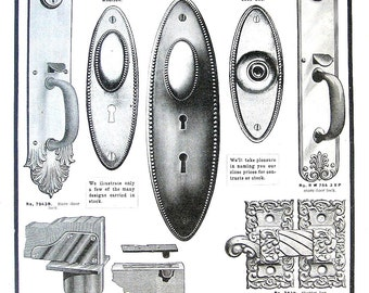 1904 Antique Hardware Ad - Door Plates, Saws 2 Sided - Canada Hardware and Metal Catalog
