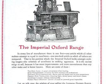 1904 Antique Hardware Ad - Oxford Range, Crown Huron - 1904 Canada Hardware and Metal Catalog p104